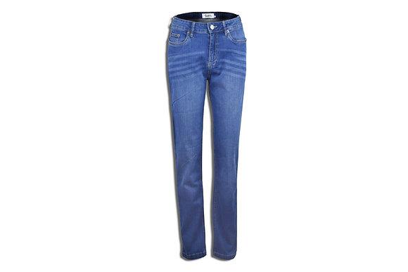 Medium Blue Women's Jeans - Straight Cut