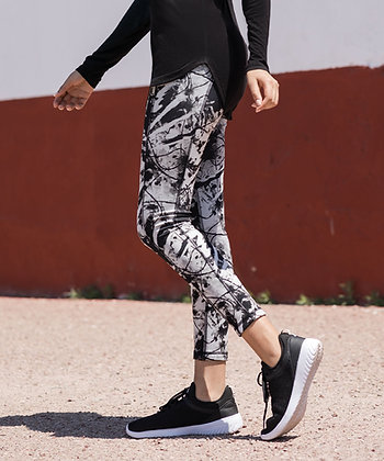 Black and White Reversible Leggings
