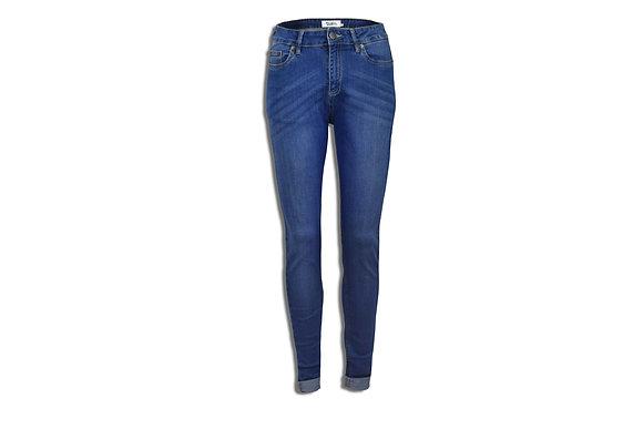 Dark Blue Women's Jeans - Skinny Cut