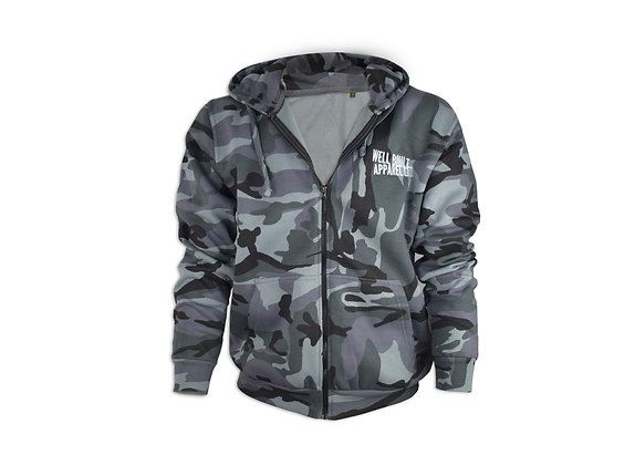 Zipped Midnight Camouflage Hoodie
