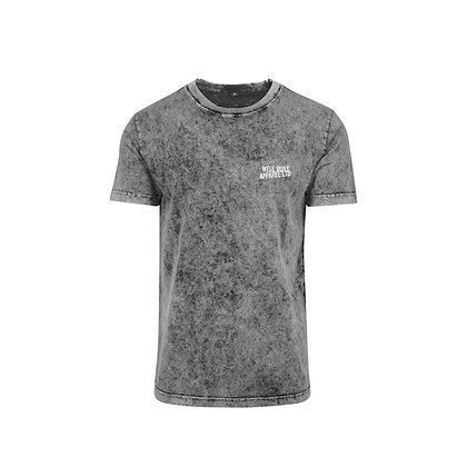 Acid Washed Block Embroidered T-Shirt