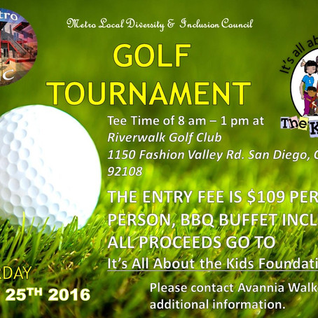 METRO LOCAL DIVERSITY & INCLUSION COUNCIL GOLF TOURNAMENT