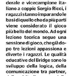 Bridge, il corso che affina la logica