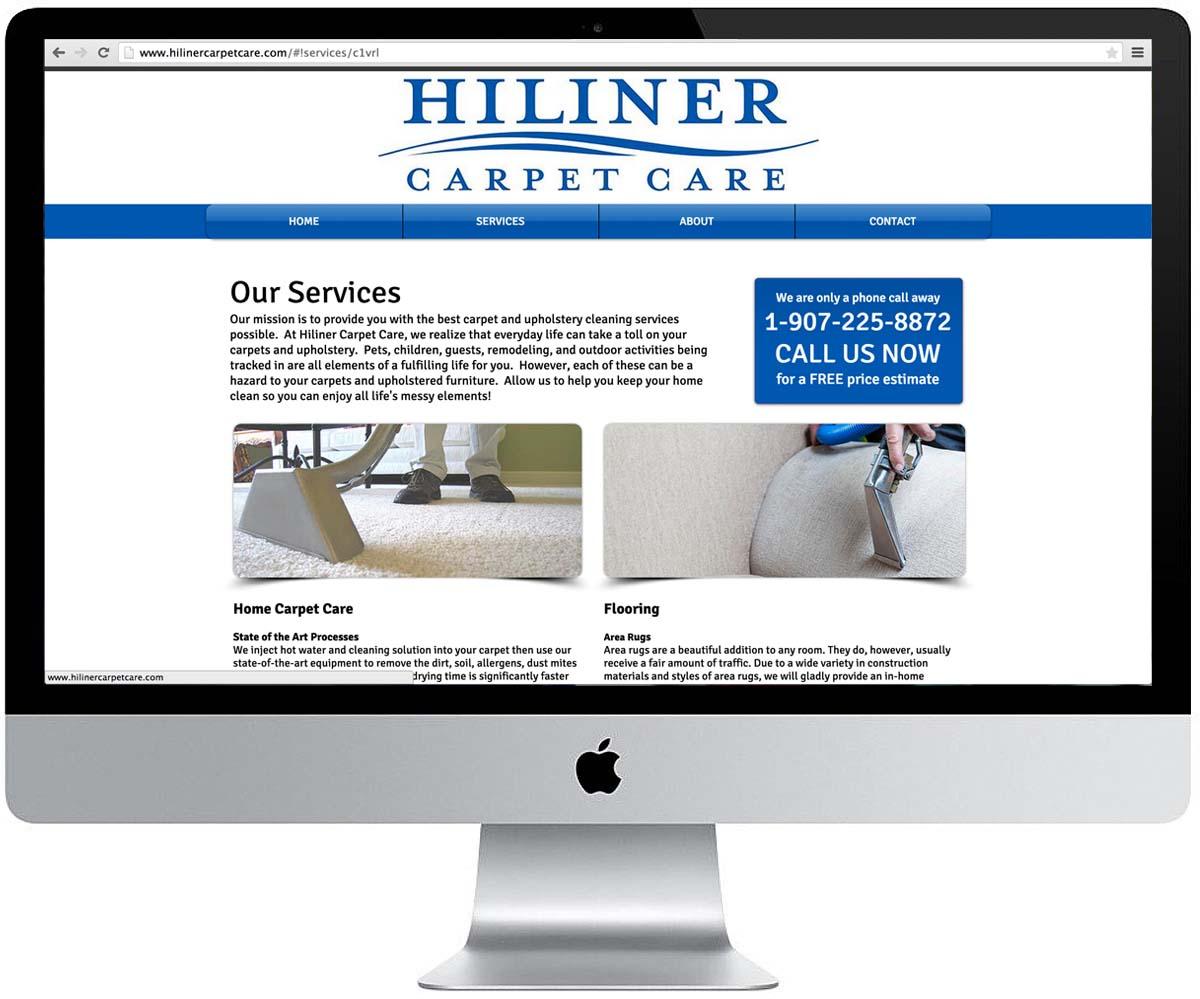 Website Design -- Hiliner Carpet Car