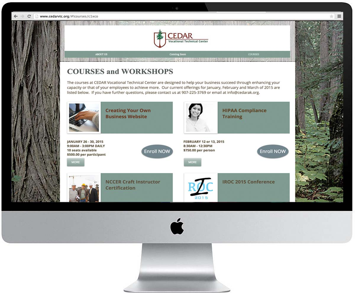 Web Design -  CEDAR VTC