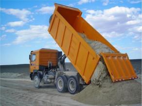 Доставка песка и щебня