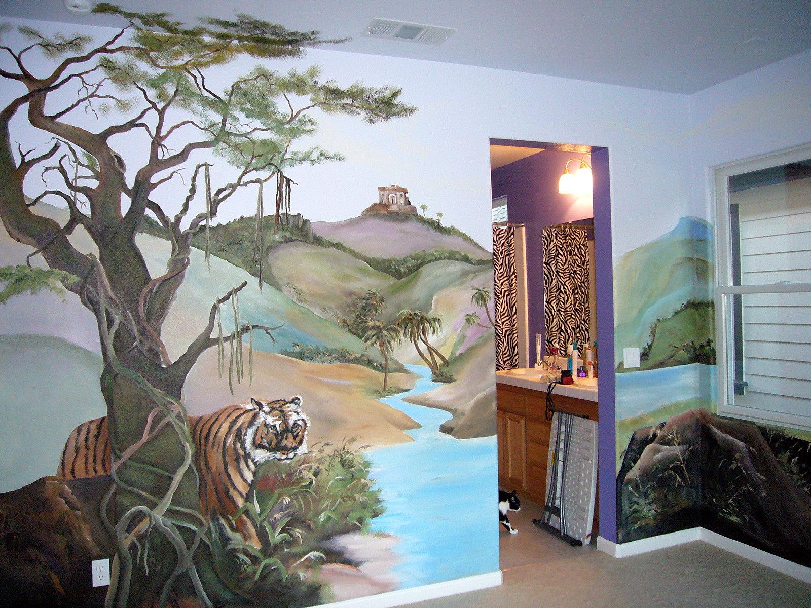 Safari Bedroom Custom Murals A Bedroom Turns Into A Safari Room