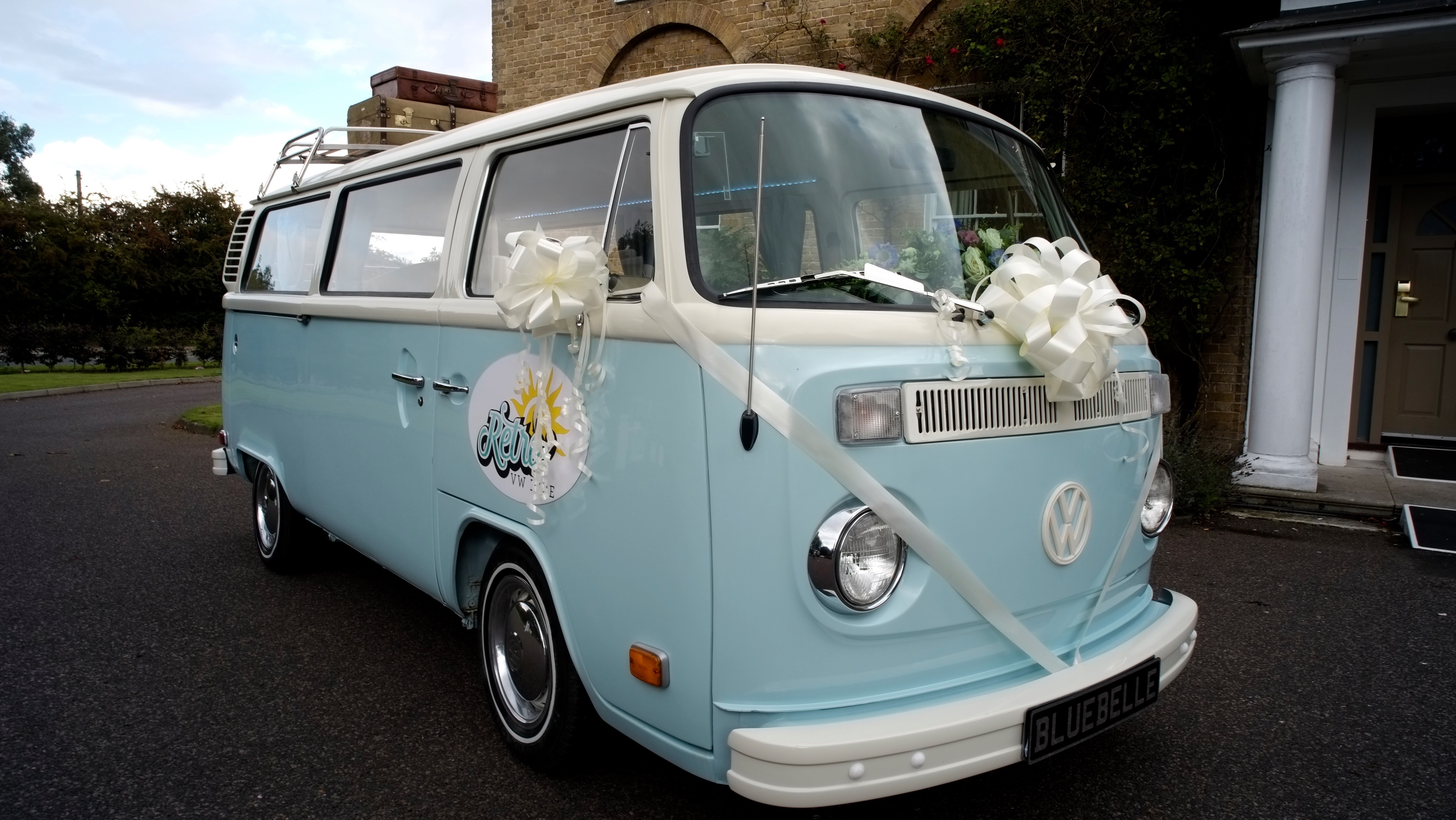VW campervan wedding transport