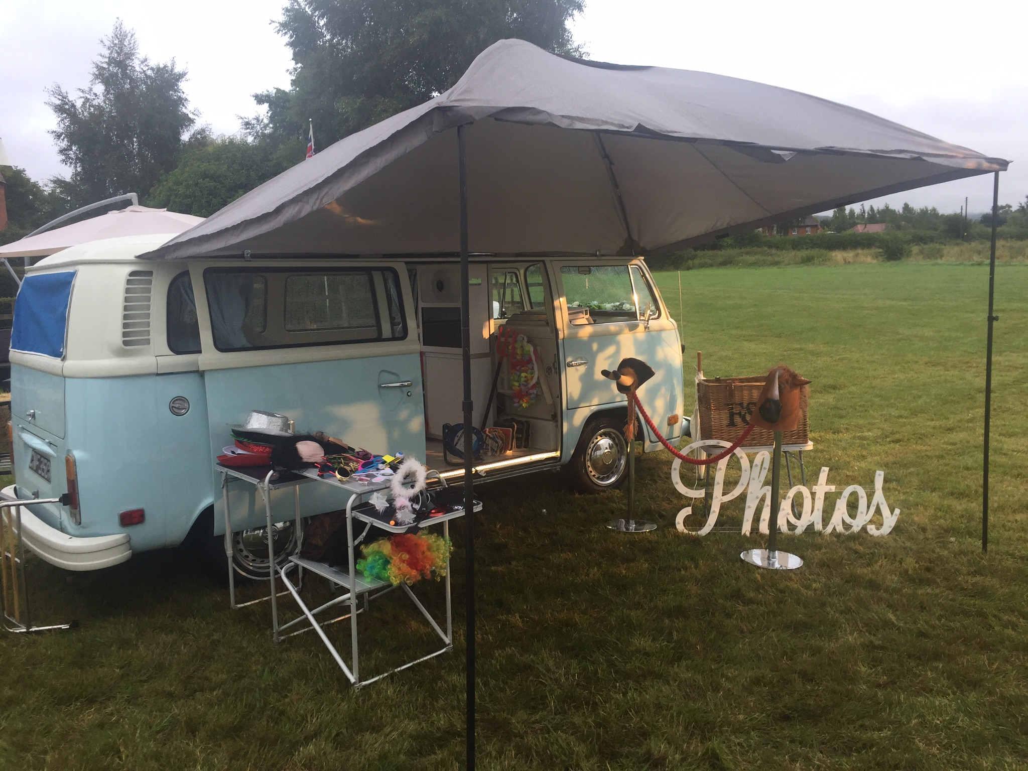 VW Camper with canopy