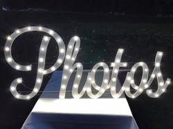 LED photos sign