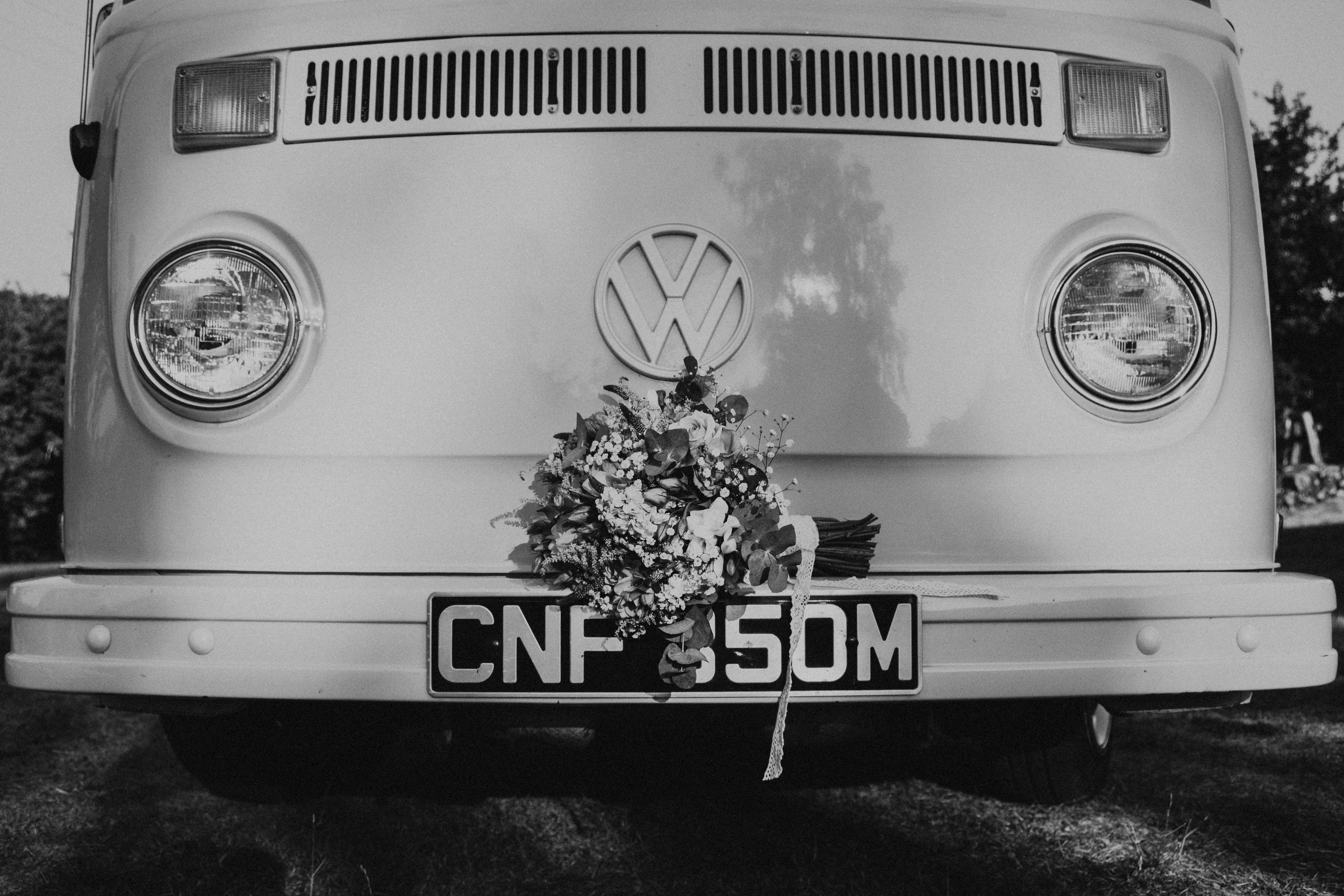 Flowers on Campervan