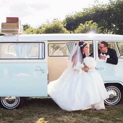 Bride and Groom with Bluebelle