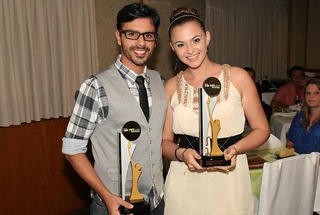 Premiação Cleber Junior e Tatyanne Lazier-Leão