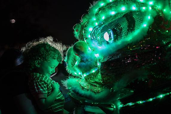 lee's white leopard, aurora art festival dallas
