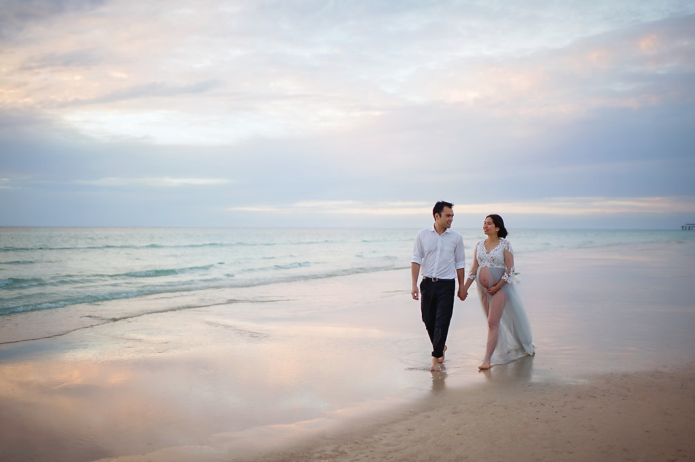 maternity beach photography
