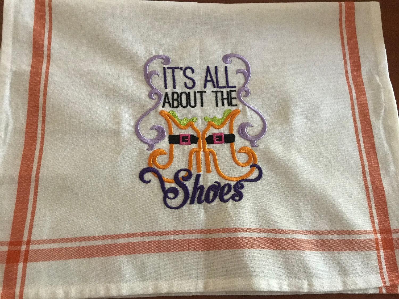 Halloween Cotton Tea Towel Opc By Lisa