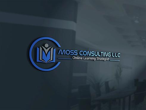 moss consulting llc logo black desk back