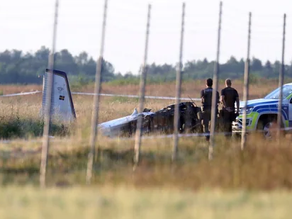 Small plane crashes in Sweden.