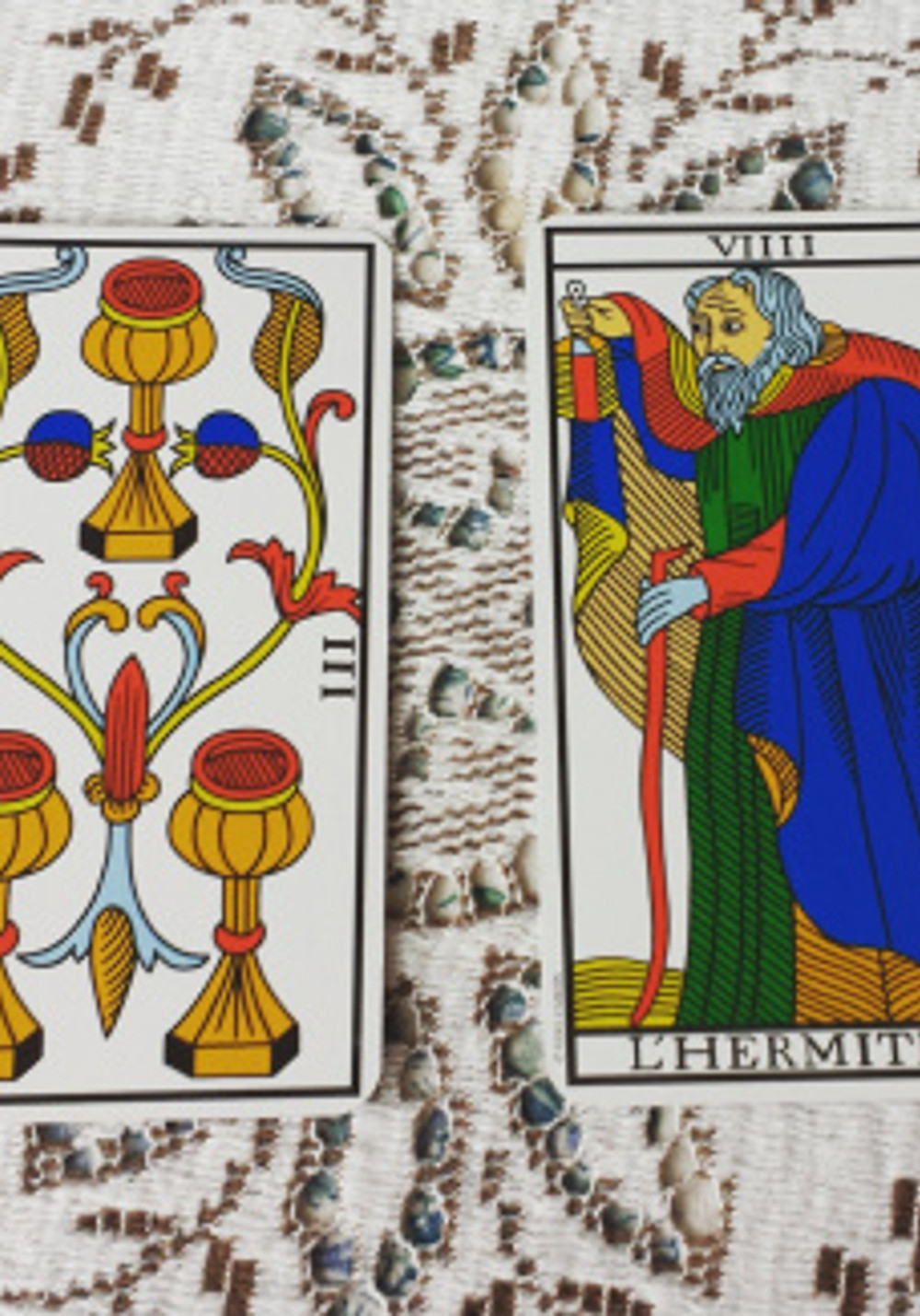 Daily Tarot with Asha Mara the Hermit and the 3 of Cups