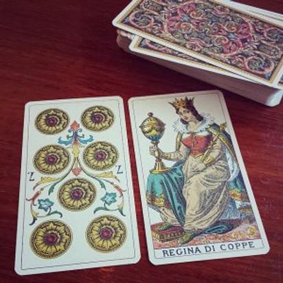 7 disks queen of cups Asha Maria tarot astrology