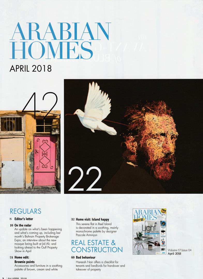 Arabian Homes - April 2018 - Contents pa
