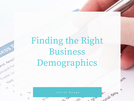 Finding the Right Business Demographics
