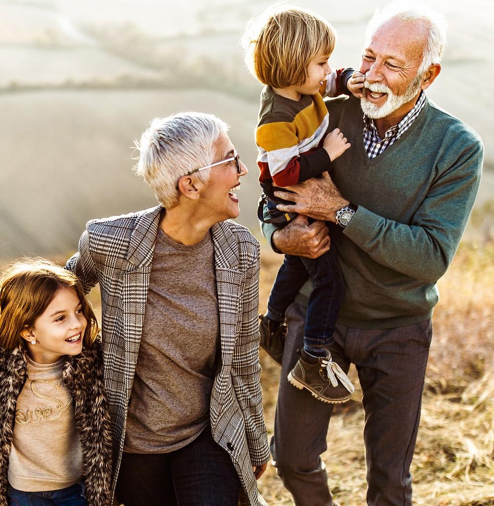 happy family with hip pain treatments
