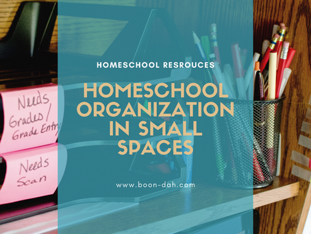 Homeschool Organization in Small Spaces