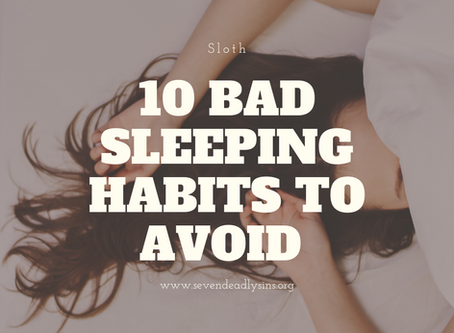 10 Bad Sleeping Habits To Avoid