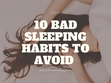 10 Bad Sleeping Habits To Avoid