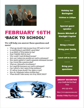 February 16th 'BACK TO SCHOOL SEMINAR' - We will help you answer these questions and more!