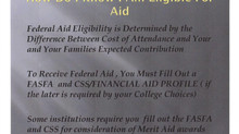 Financial Aid Tip For Today...