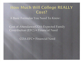 Determining The Cost of College
