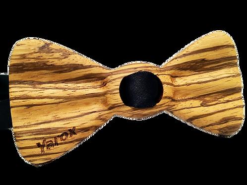 Noeud papillon en bois Le ZÉBRANO - Classique