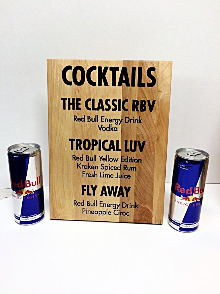 Menu Red Bull