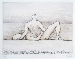 Henry Moore: Reclining figures man & woman I
