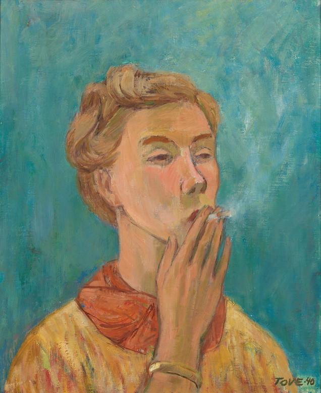 Tove Jansson: Tupakoiva tyttö / Rökande flicka / Girl smoking
