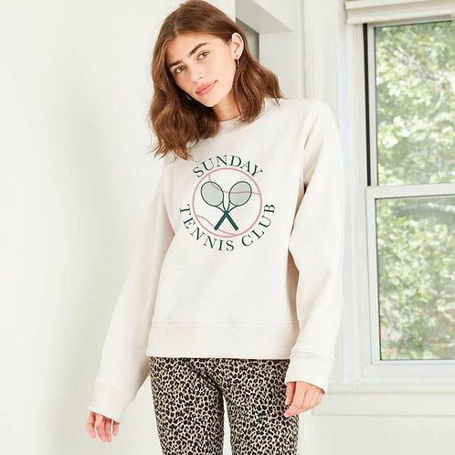 Tennis Crewneck Women's Sweatshirt