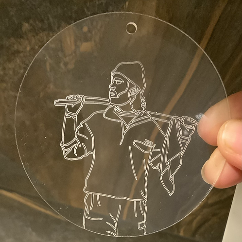 Engraved Acrylic Ornament