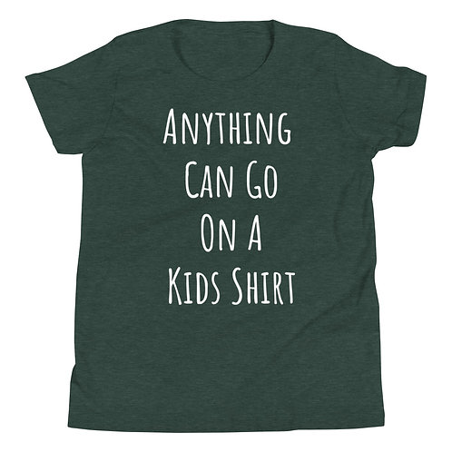 Custom Youth Short Sleeve T-Shirt