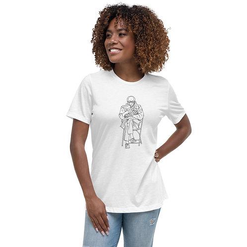 Bernie Mittens Line Women's Relaxed T-Shirt
