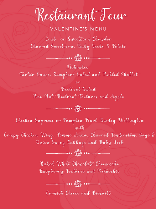 Valentines 5 Course Tasting Menu ( Meat)