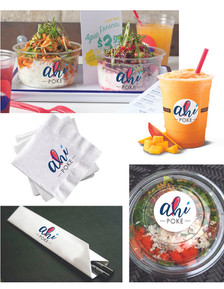 Ahi Poke Logo Mockup