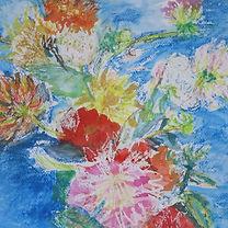 Bloemen schilderen, gemengde techniek.JP