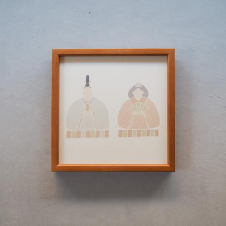 【季節のアートポスター】 ひなまつり アートポスター A4