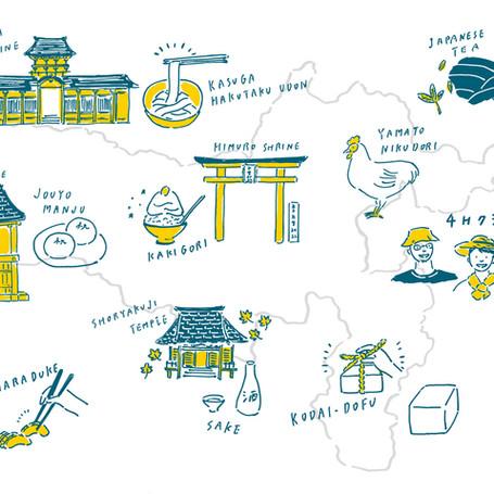 『食育冊子』イラストmap