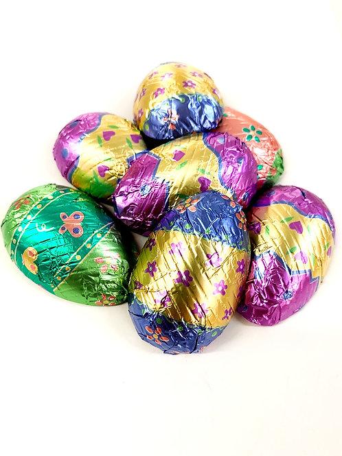 Large Pastel Foil Eggs (7/bag)