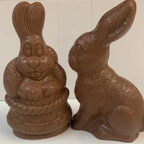 Single Medium Milk Chocolate HOLLOW Rabbit