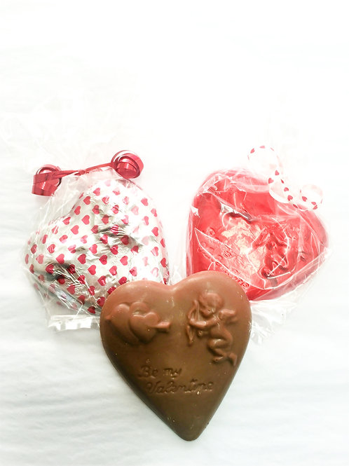 Solid Milk Chocolate Heart (small)