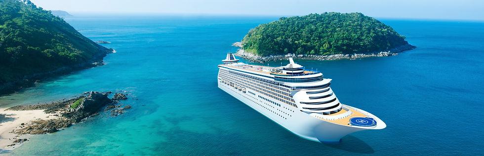 Cruise ship cruising islands